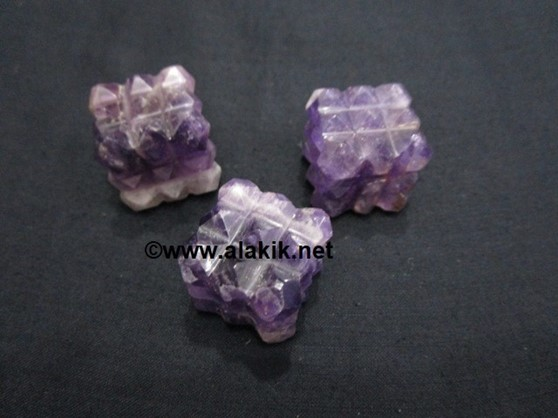 Picture of Amethyst 54point Lemurian Pyramid