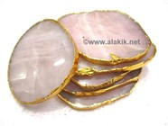 Picture of Rose Quartz Gold Coasters