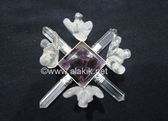 Picture of Amethyst Pyramids Generator with Crystal Angels
