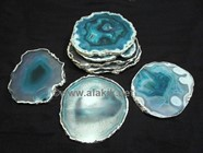 Picture of Green Onyx Coasters Silver Plated