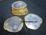 Picture of Grey Agate Gold Plated Coasters