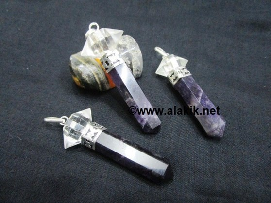 Picture of Amethyst 2pc Herkimer Pendant