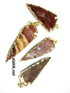 Picture of 2inch Jasper Electro plated Arrowhead pendants