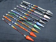 Picture of 10 Chakra Pendulum Set with Chakra Chips Beads chain