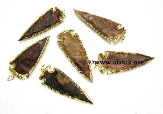 Picture of 3inch Gold Electroplated Arrowhead  Pendants