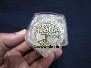 Picture of Clear Quartz Orgone Dodecahedron with Tree of Life