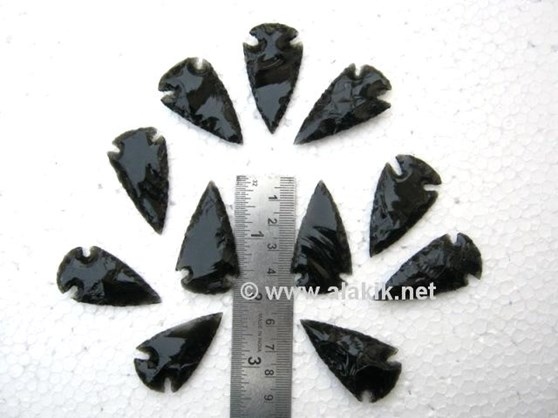 Picture of 2 inch Black Obsidian Arrowhead