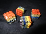 Picture of Chakra Bonded 54 Pyramid Cube