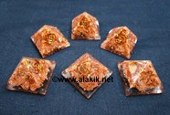 Picture of Brown Sunstone Baby Orgone pyramids